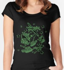Military Forces Line Art  Women's Fitted Scoop T-Shirt