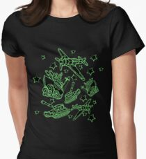 Military Forces Line Art  Women's Fitted T-Shirt