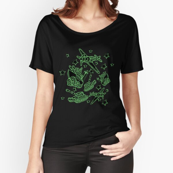 Military Forces Line Art  Relaxed Fit T-Shirt