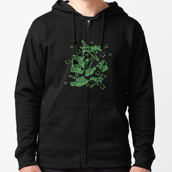 Military Forces Line Art  Zipped Hoodie