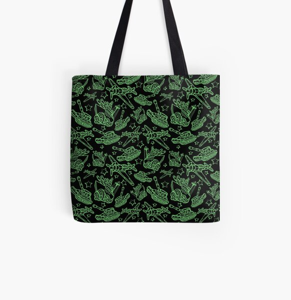 Military Forces Line Art  All Over Print Tote Bag