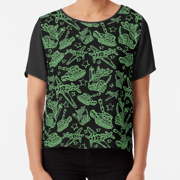Military Forces Line Art  Chiffon Top