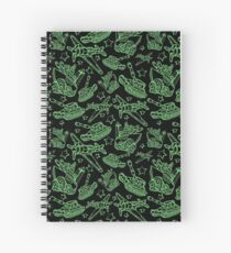 Military Forces Line Art  Spiral Notebook