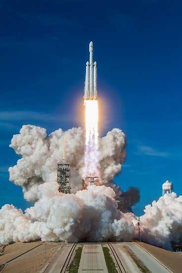 SpaceX Falcon Heavy Liftoff (8K Auflösung) von bobbooo