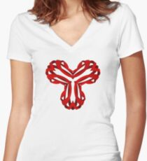Open Arms Women's Fitted V-Neck T-Shirt