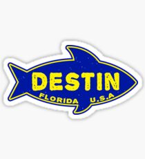 Fishing Destin Florida Deep Sea Fish Boat Tuna Sticker