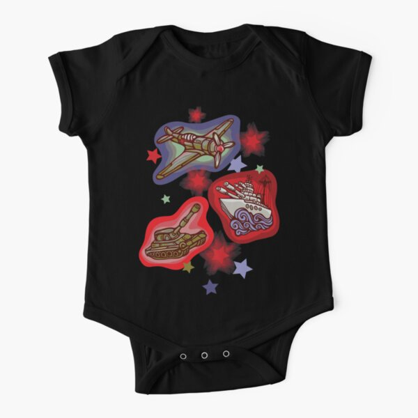 Military Forces Short Sleeve Baby One-Piece