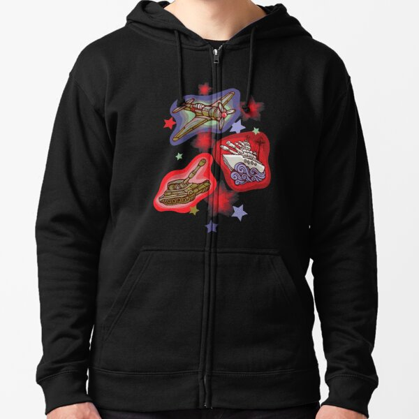 Military Forces Zipped Hoodie