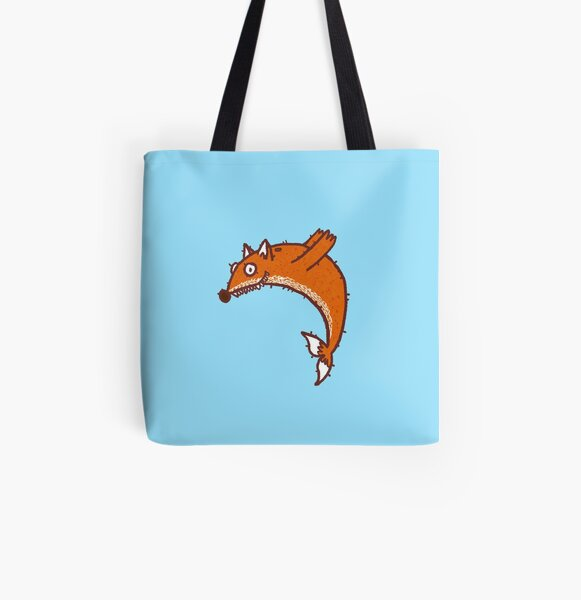 Dolphin Fox All Over Print Tote Bag