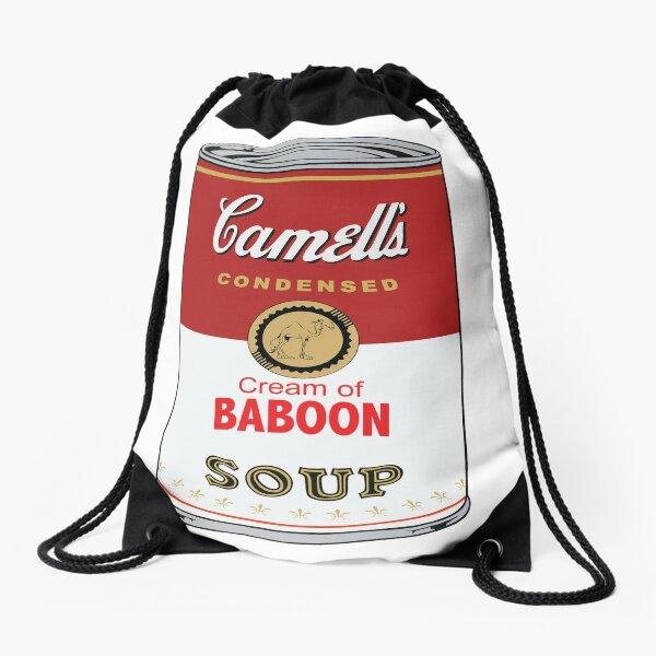Camell's Cream of BABOON Soup  Pop Art Drawstring Bag
