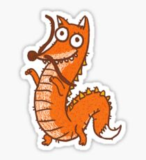 Dragon Fox Sticker