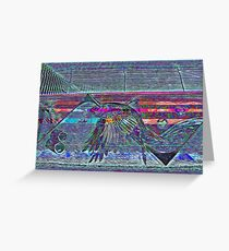 Glitchy Fish Fly Greeting Card