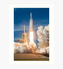 SpaceX Falcon Heavy Liftoff (8K resolution) Art Print