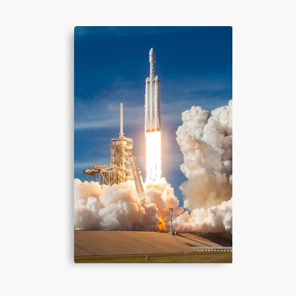 SpaceX Falcon Heavy Liftoff (8K resolution) Canvas Print