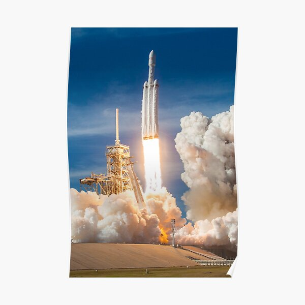 SpaceX Falcon Heavy Liftoff (8K resolution) Poster