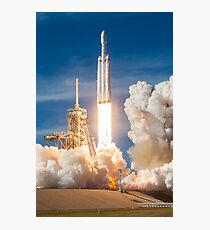 SpaceX Falcon Heavy Liftoff (8K resolution) Photographic Print
