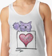 I love you - Purrple Kitty Tank Top