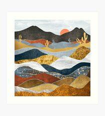 Desert Cold Art Print