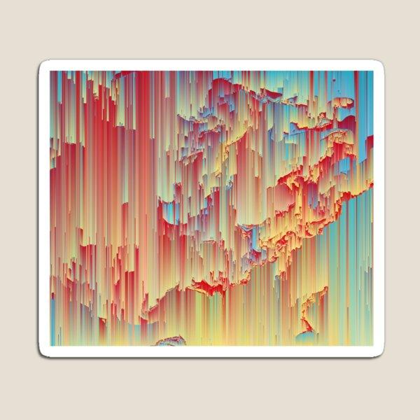 Happy Rain - Glitchy Abstract Magnet