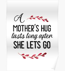 A Mother's Hug - Mother's Day Gift Poster