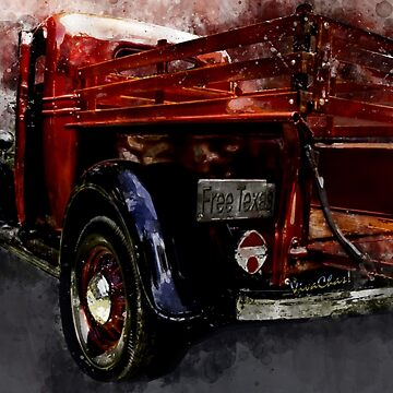 1937 Ranch Pickup Better Than New Watercolour Illustration by ChasSinklier