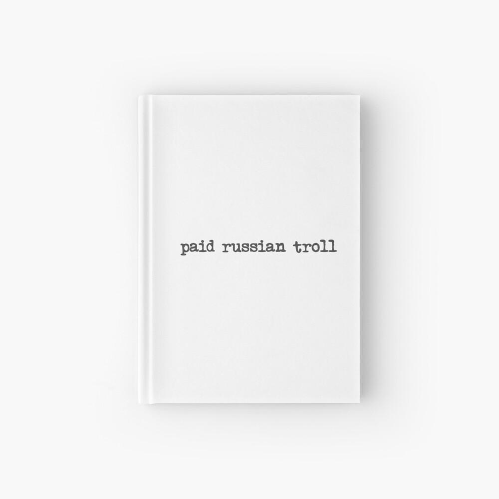 bezahlter russischer Troll Notizbuch