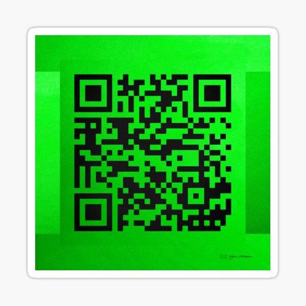qr code robux Qr Codes Art Stickers Redbubble