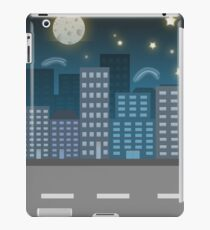 night city blue location illustration iPad Case/Skin