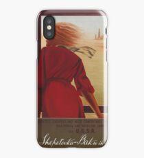 Vintage Travel Poster USSR iPhone Case/Skin