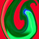 Green and Red Swirl by Orla Cahill