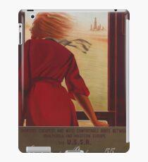 Vintage Travel Poster USSR iPad Case/Skin