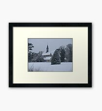 Snow Scene Church Framed Print