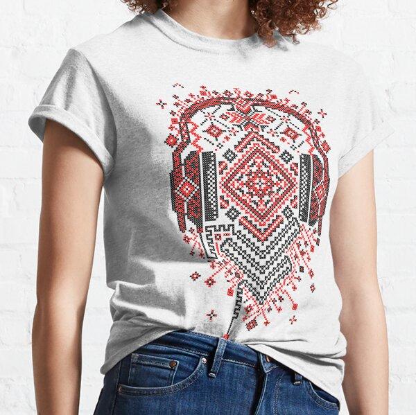 Ethno Musik Kopfhörer Ornament Classic T-Shirt