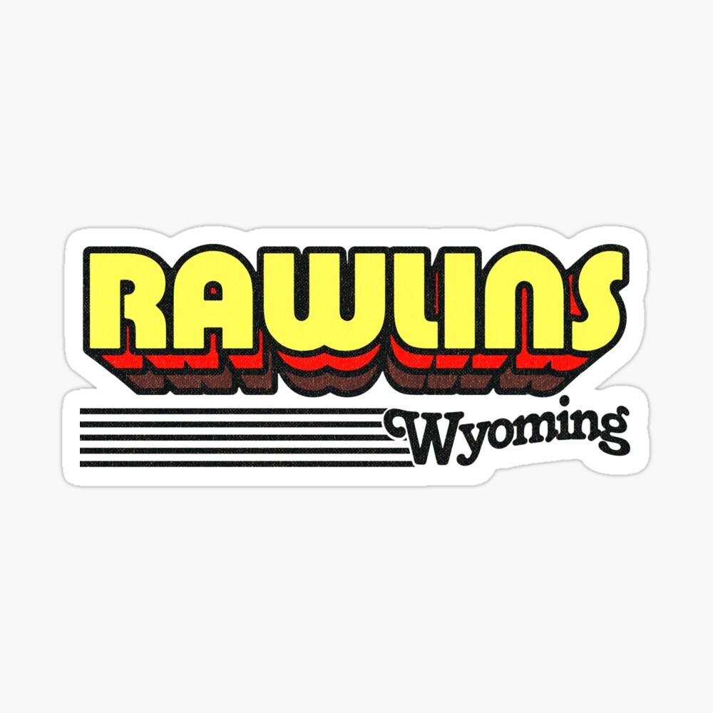 Rawlins, Wyoming | Retro Stripes Sticker