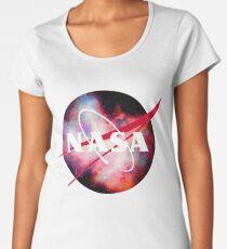 Red Nebula Space NASA Logo Women's Premium T-Shirt