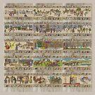 Fifteen panels of Gabeaux Tapestry by jennyjeffries