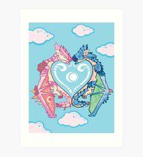 Monster Valentine Art Print