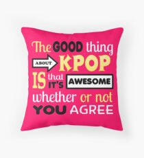 GOOD THING ABOUT KPOP - PINK Throw Pillow