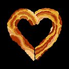 Bacon Heart Meat Lovers Funny Food by theartofvikki