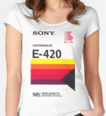 Vaporwave VHS Women's Fitted Scoop T-Shirt