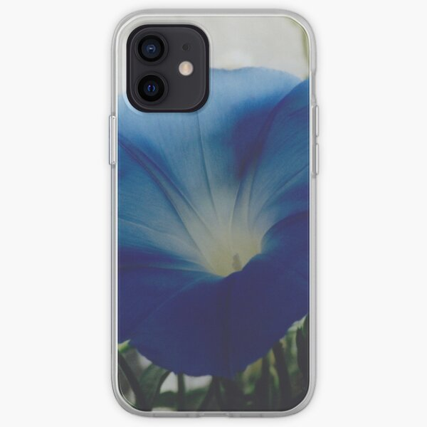 Naturally Blue Morning Glory iPhone Soft Case