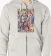 Untitled (Noise) Neo-Expressionism Zipped Hoodie