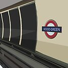 Wood Green Tube Station by Derek Des Anges