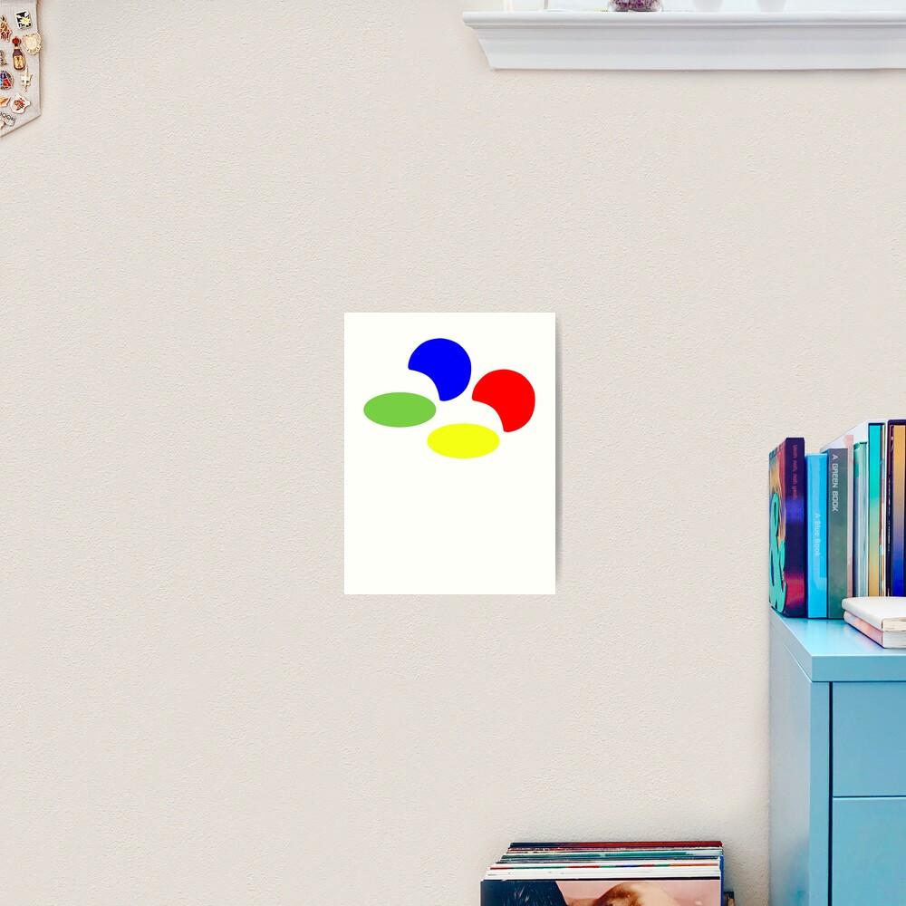 Super NES Logo (Flat) Art Print