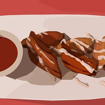Fried Plantains Speed Vector by delilahdesanges