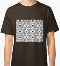 Abstract Black and White Sketch with Seahorses Classic T-Shirt