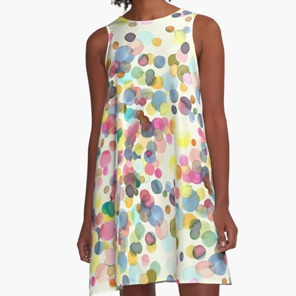 Color drops A-Line Dress