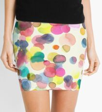 Color drops Mini Skirt