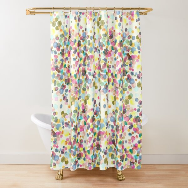 Color drops Shower Curtain