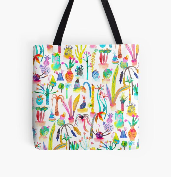 Lush and dreamy cacti garden All Over Print Tote Bag